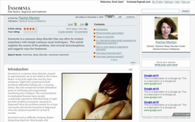Knol Screenshot