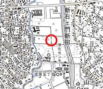 さいたま市大宮区付近の地形図