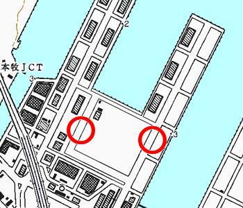 横浜市中区付近の地形図