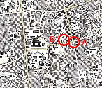 さいたま市浦和区付近の地形図