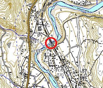 群馬県赤城村付近の地形図