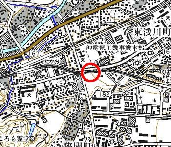 東京都八王子市付近の地形図