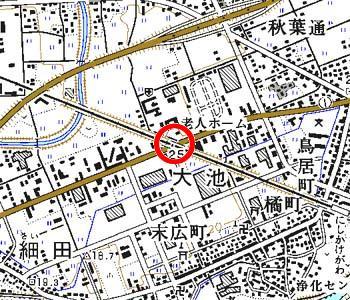 静岡県掛川市付近の地形図