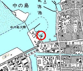 千葉県木更津市付近の地形図