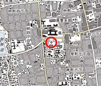 さいたま地方裁判所付近の地形図