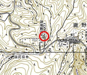 千葉県君津市付近の地形図