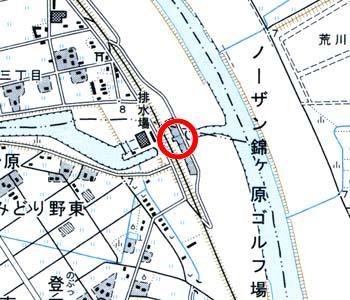 埼玉県富士見市付近の地形図