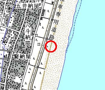 千葉県白子町付近の地形図