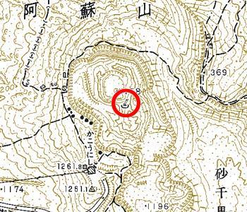 熊本県阿蘇町付近の地形図