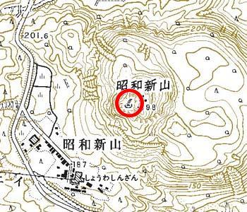 北海道壮瞥町付近の地形図