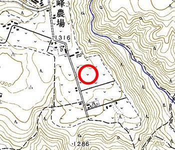 長野県諏訪市付近の地形図