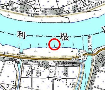 千葉県成田市付近の地形図