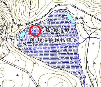 長野県下諏訪町付近の地形図