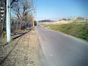 1車線の道路