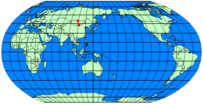 ピナコサウルスの産地 : 中国 内モンゴル自治区