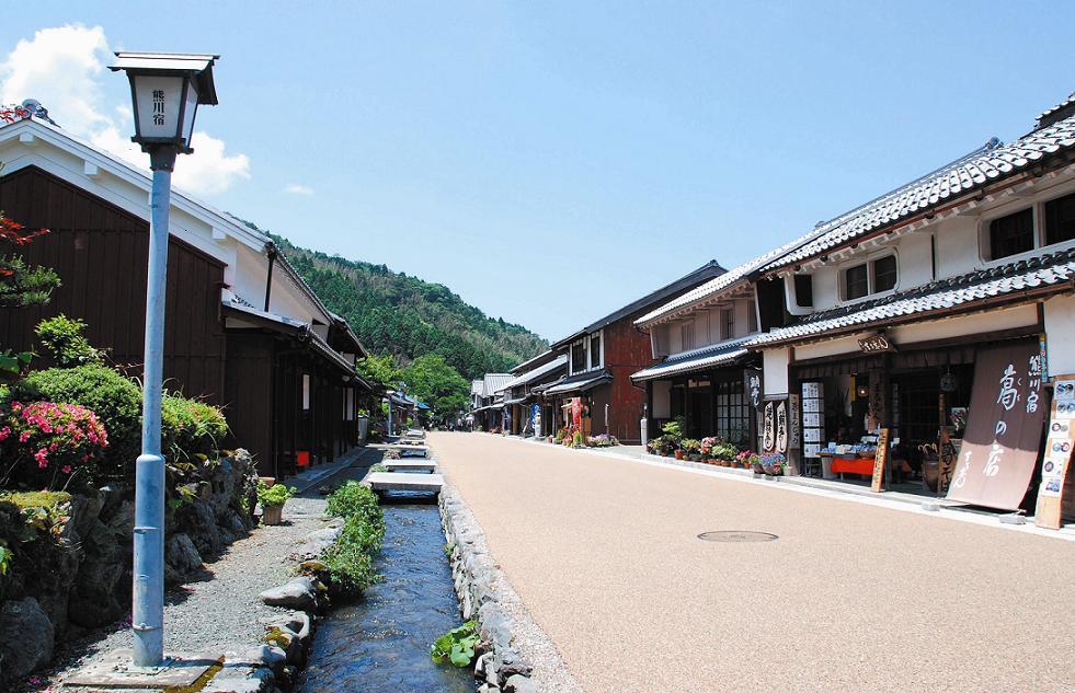 熊川宿前川