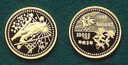 長野オリンピック記念 第1次 10,000円金貨幣
