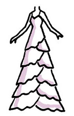 ティアードドレス