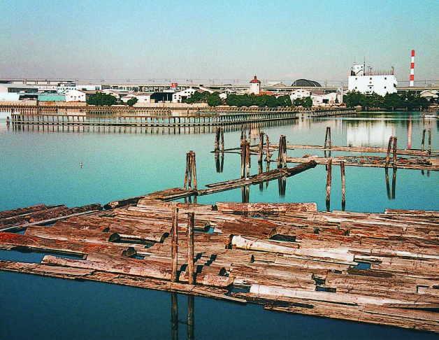 江東区新木場の貯木場