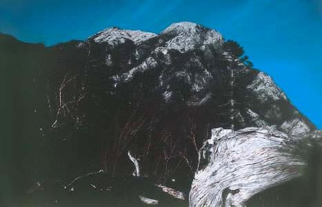 写真:甲斐駒ヶ岳と摩利支天