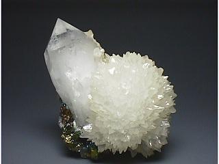 方解石と水晶