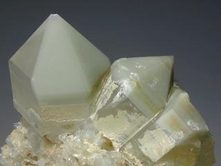 水晶と緑泥石