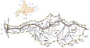 沙流川流域図