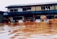 昭和57年9月13日 上越市藤巻浸水状況