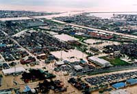 平成7年7月11日 上越市有田地区浸水状況