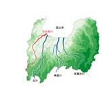 小矢部川流域図