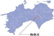 物部川流域図
