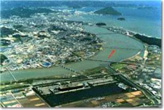 唐津市を中心を流れる松浦川