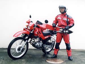 消防活動二輪車