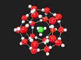 図 メタンハイドレートの構造