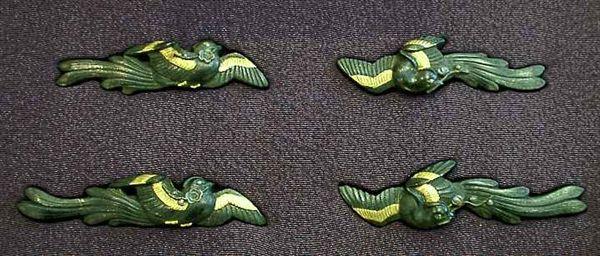 花喰鳥図大小目貫